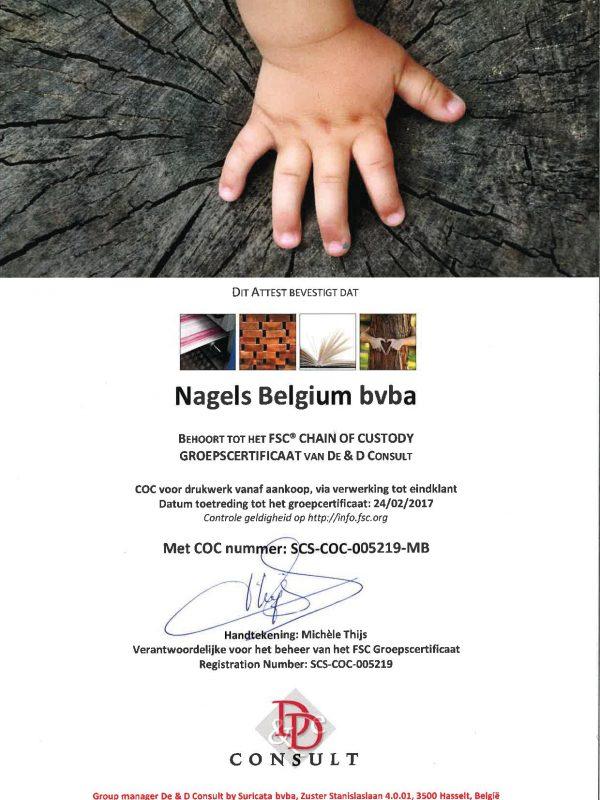Certificaat FSC Belgie