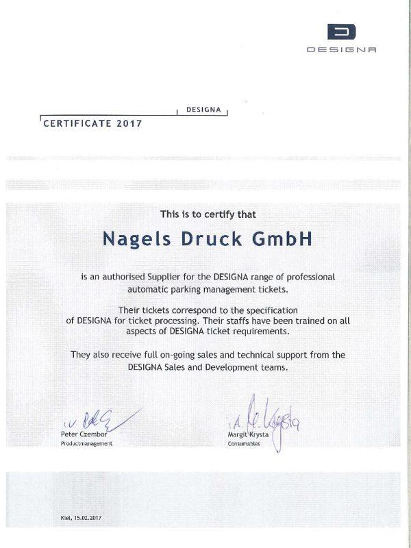 Certificate Designa 2017
