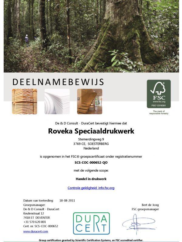 Certificate FSC NL Deelnamebewijs