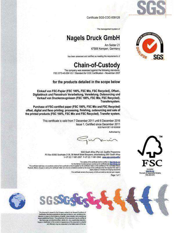 Certificate FSC_SGS_Nagels