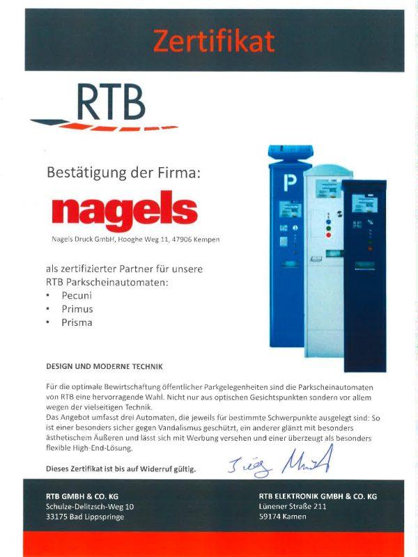 Certificate RTB_Siemens
