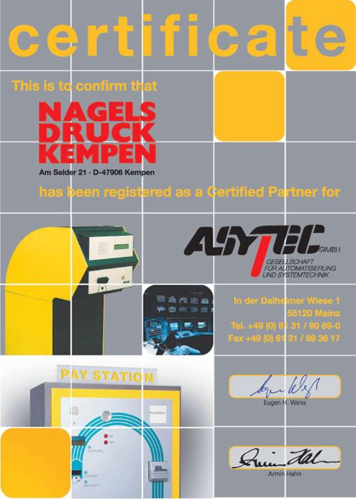 Zertifikat Asytec